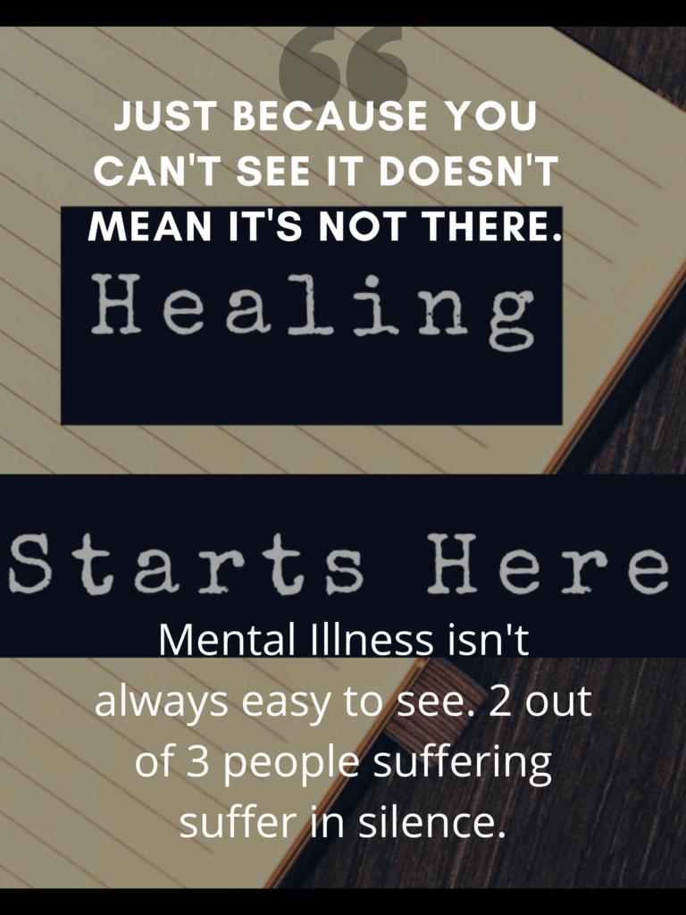 Black and White Photo Mental Health Poster 1 1